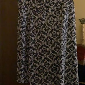 Tranquillity Black/white pattern summer skirt-2X